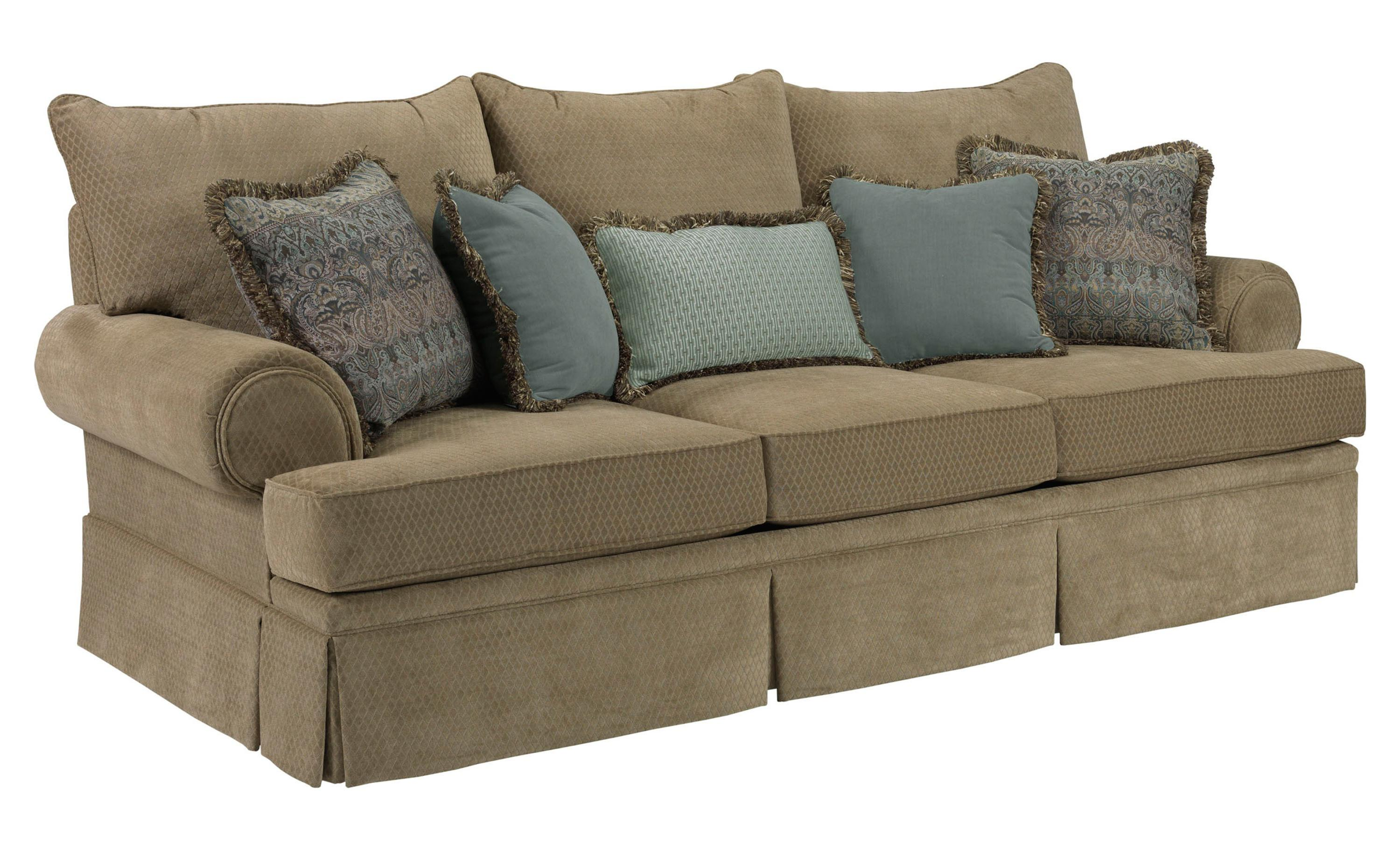 Helena Traditional Skirted Sofa With Rolled Arms By Broyhill Furniture
