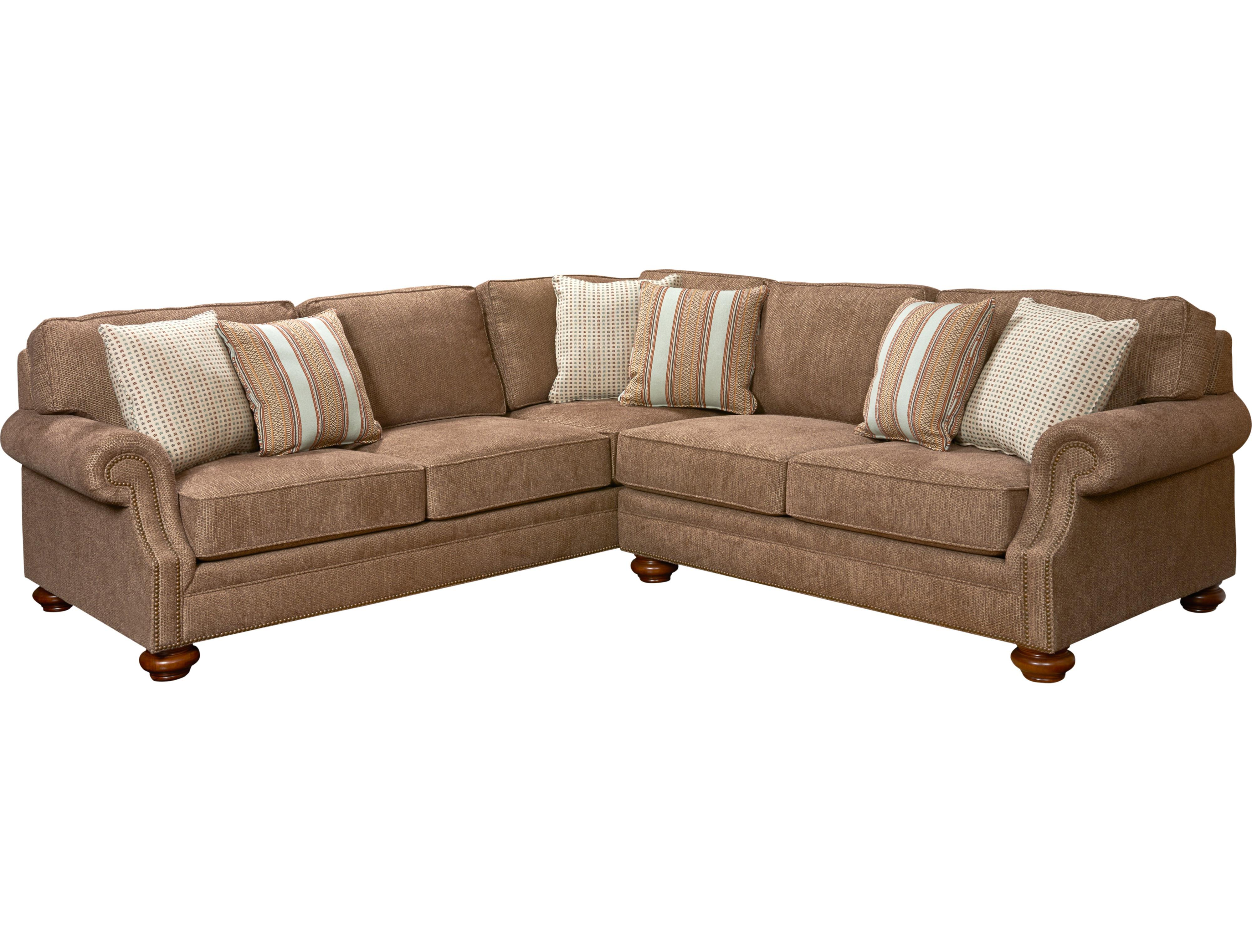 Broyhill Furniture Heuer Traditional Sectional Sofa With Nail Head Trim John V Schultz