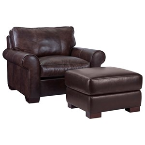 Broyhill Furniture Isadore Chair & 1/2 and Ottoman