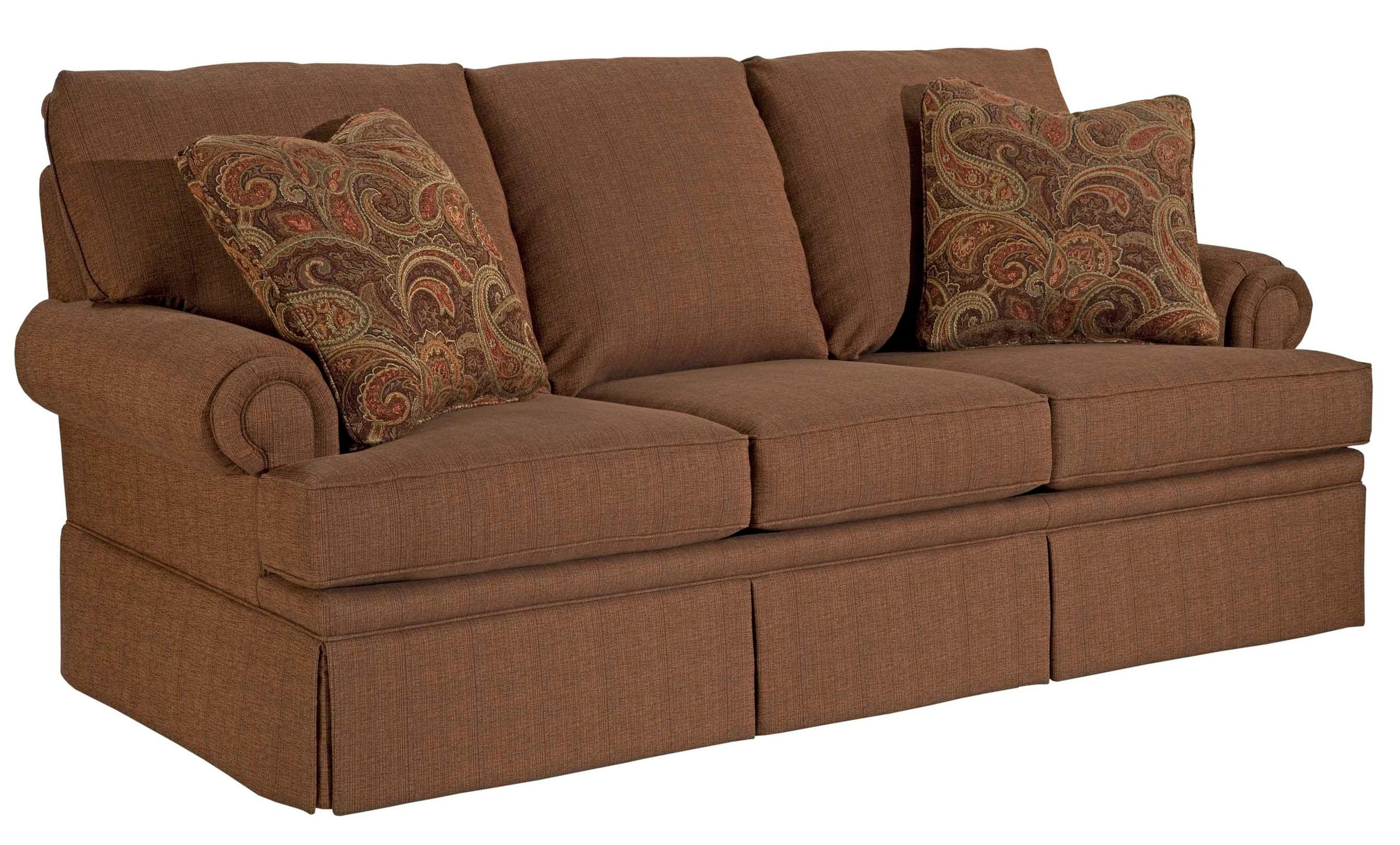 Broyhill furniture jenna 4342 2 78 stationary sofa with for Broyhill chaise lounge cushions