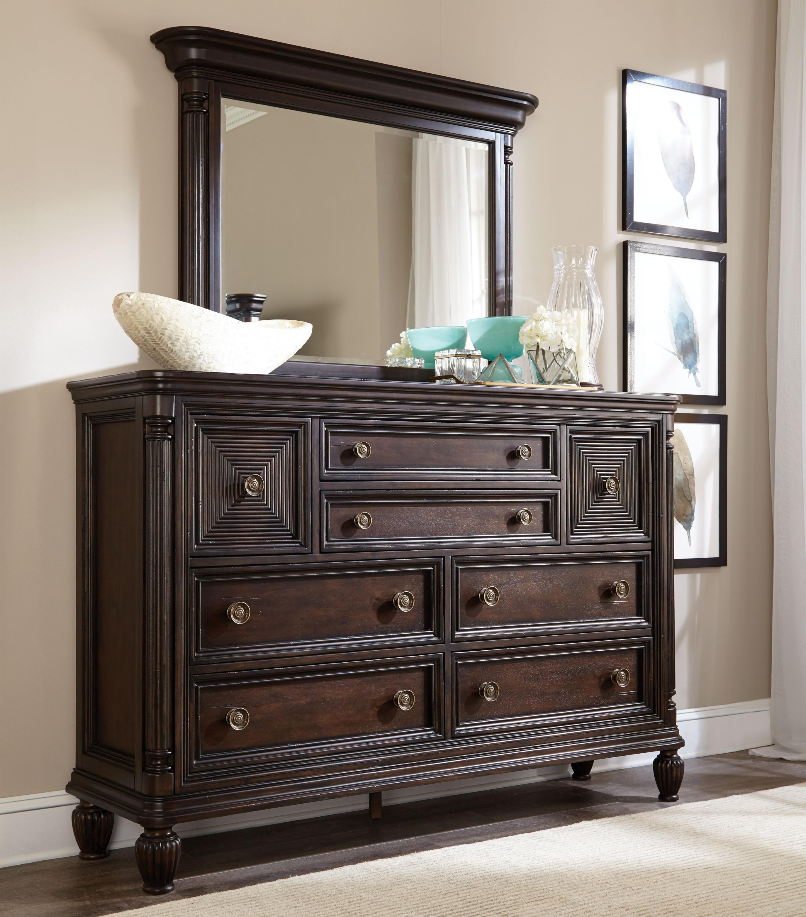 Broyhill Furniture Jessa Chesser and Mirror Combo - Item Number: 4980-234+236
