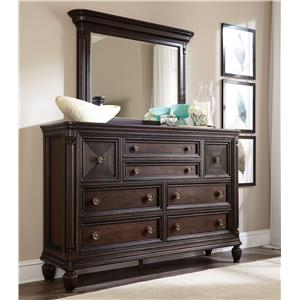 Broyhill Furniture Jessa Chesser and Mirror Combo