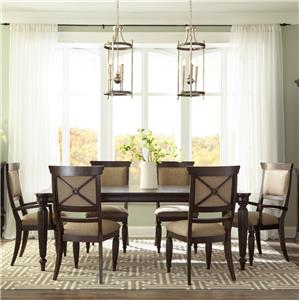 Broyhill Furniture Jessa 7 Piece Table and Chair Set