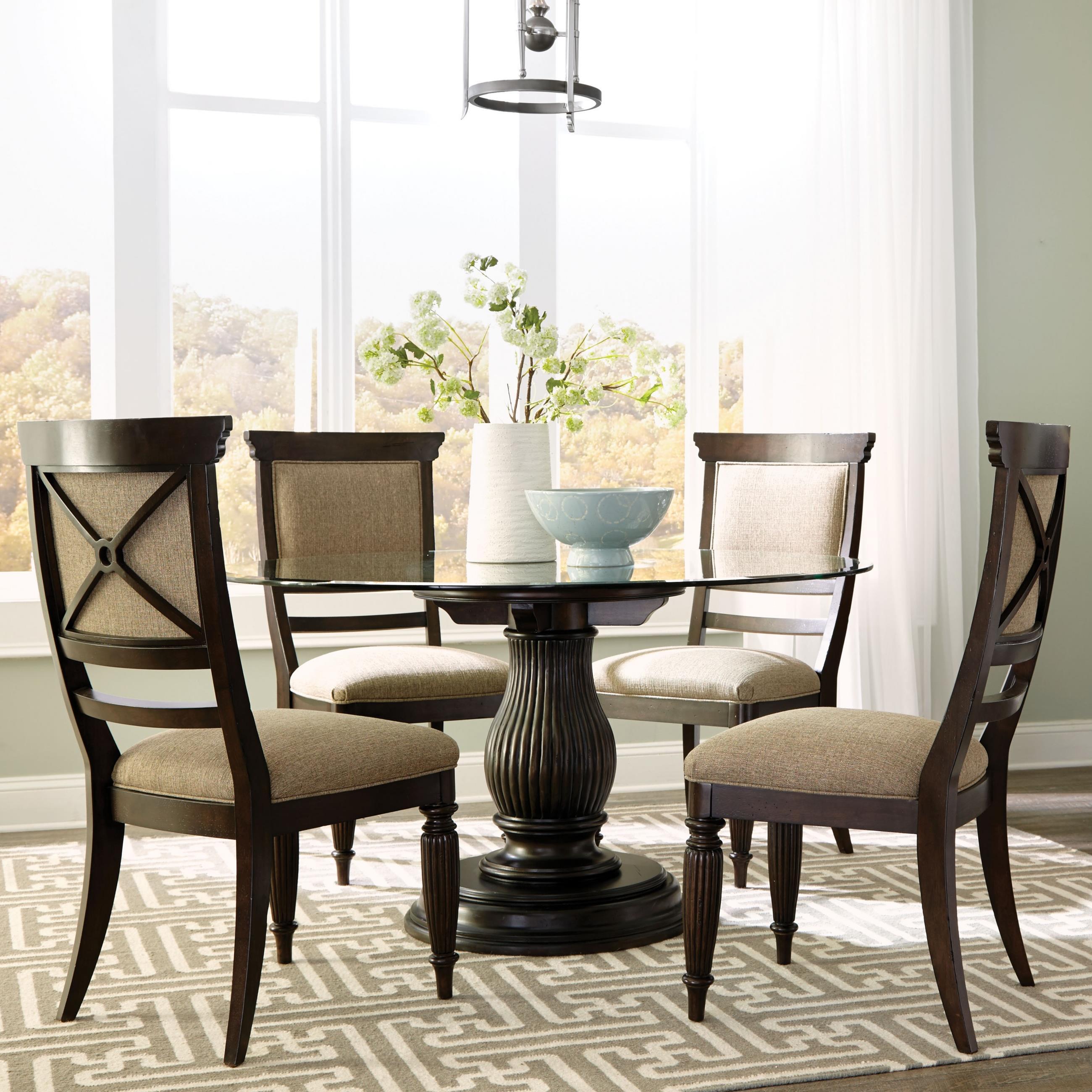 Broyhill Furniture Jessa 5 Piece Dining Set - Item Number: 4980-551+531+4x583