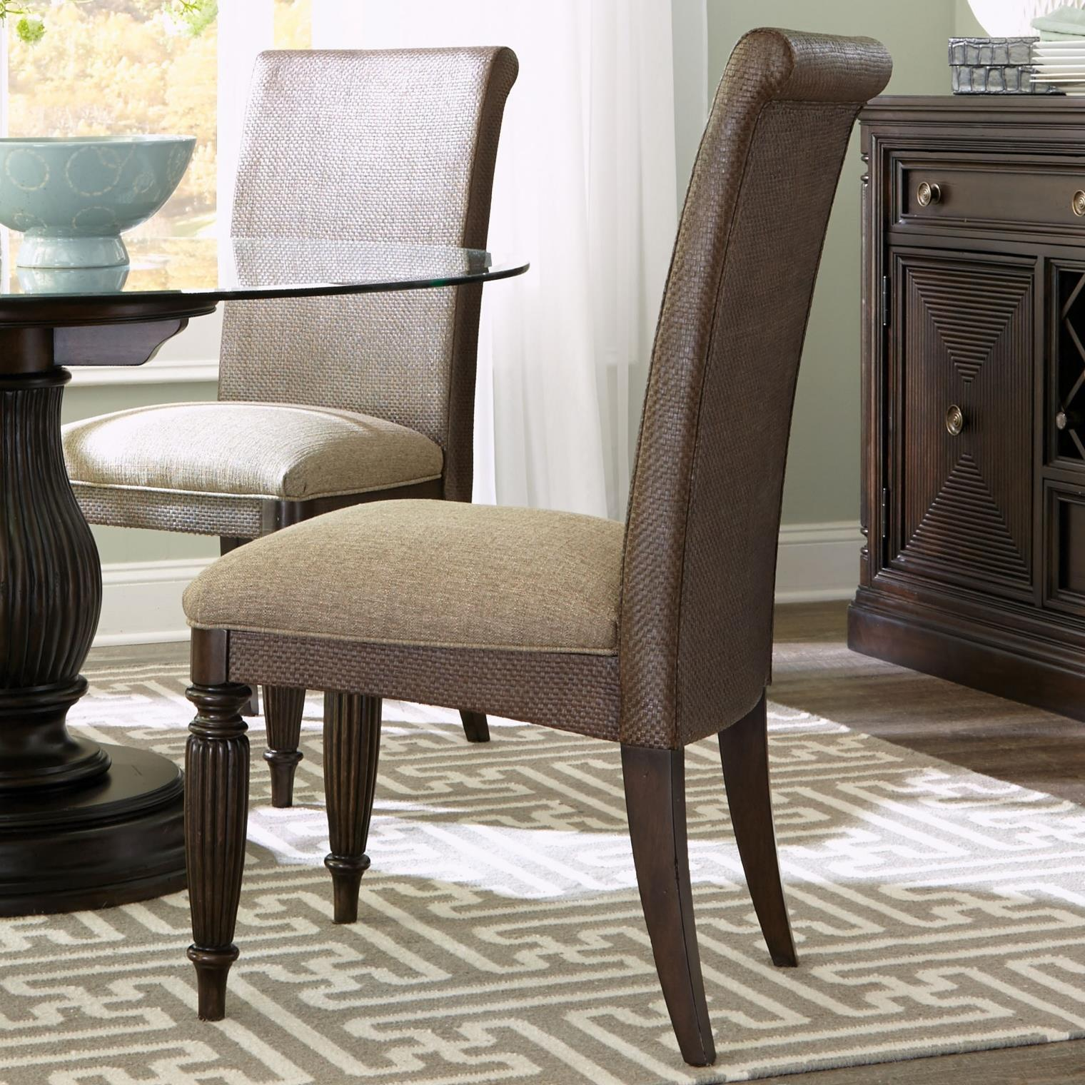 Broyhill Furniture Jessa Woven Upholstered Seat Side Chair - Item Number: 4980-585