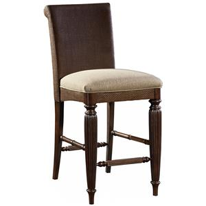 Broyhill Furniture Jessa Woven Upholstered Seat Counter Stool