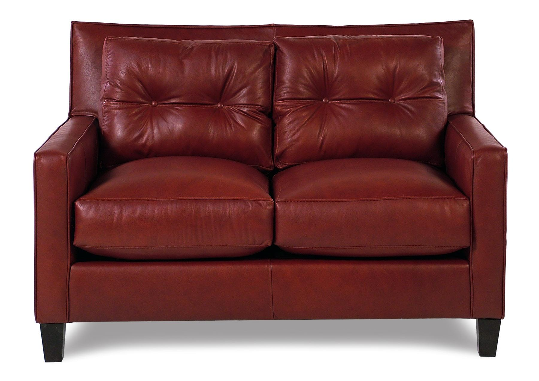 Broyhill Furniture Affinity Modern Leather Loveseat - Item Number: L6018-1-0016-67