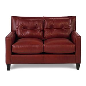 Broyhill Furniture Affinity Modern Leather Loveseat