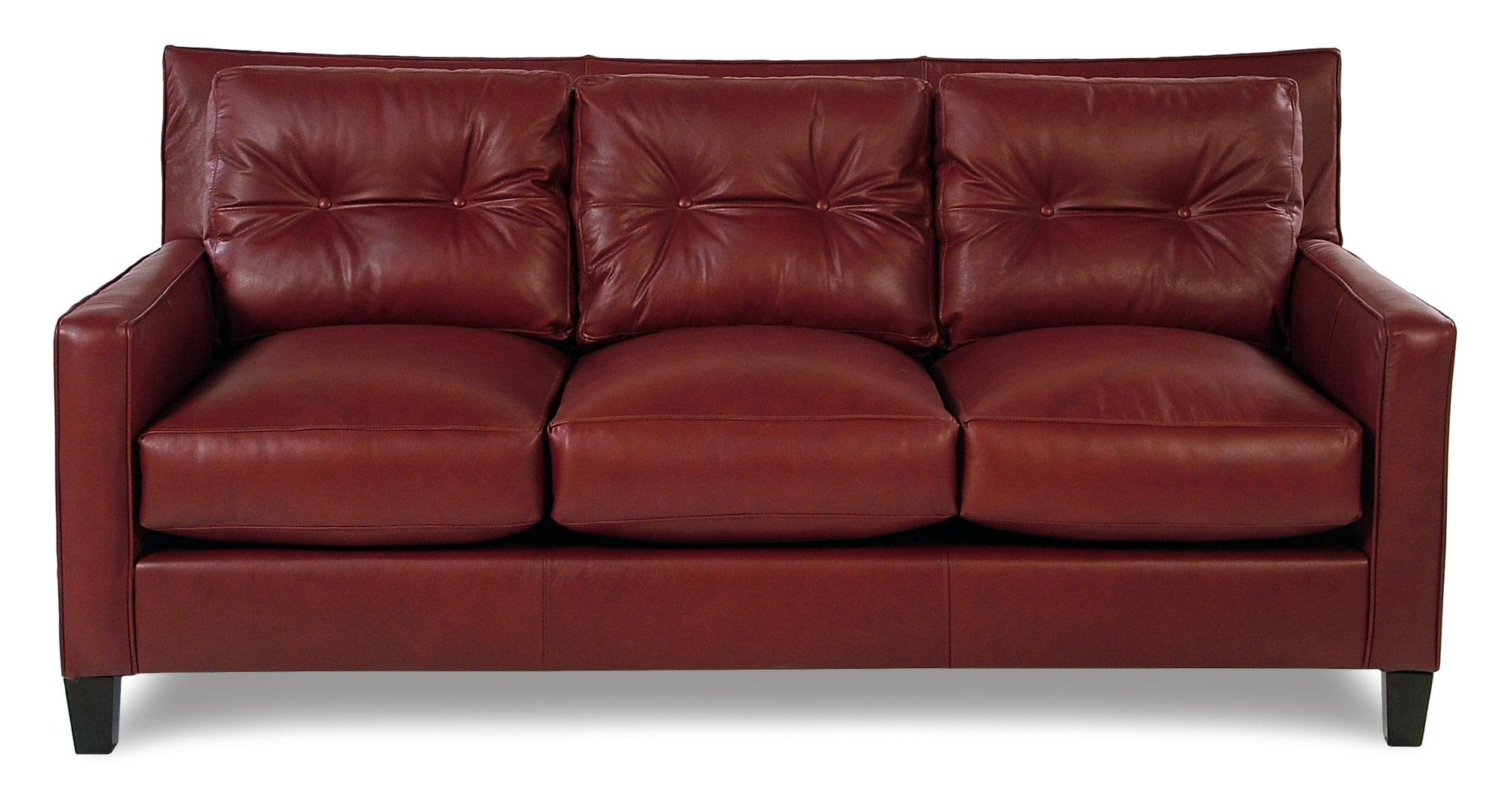 Broyhill Furniture Affinity Contemporary Leather Sofa  - Item Number: L6018-3-0016-67