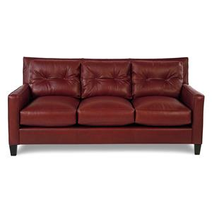 Broyhill Furniture Affinity Contemporary Leather Sofa