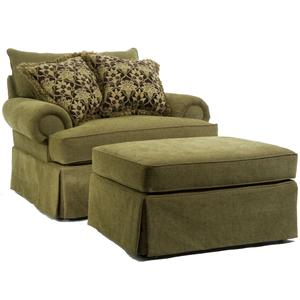 Broyhill Furniture Joella 3772 Chair and a Half & Ottoman