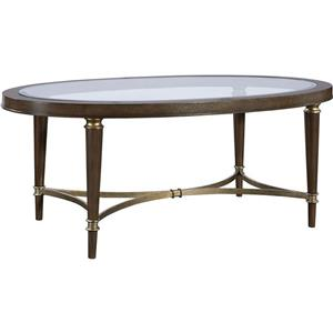 Broyhill Furniture Kirsten Oval Cocktail Table