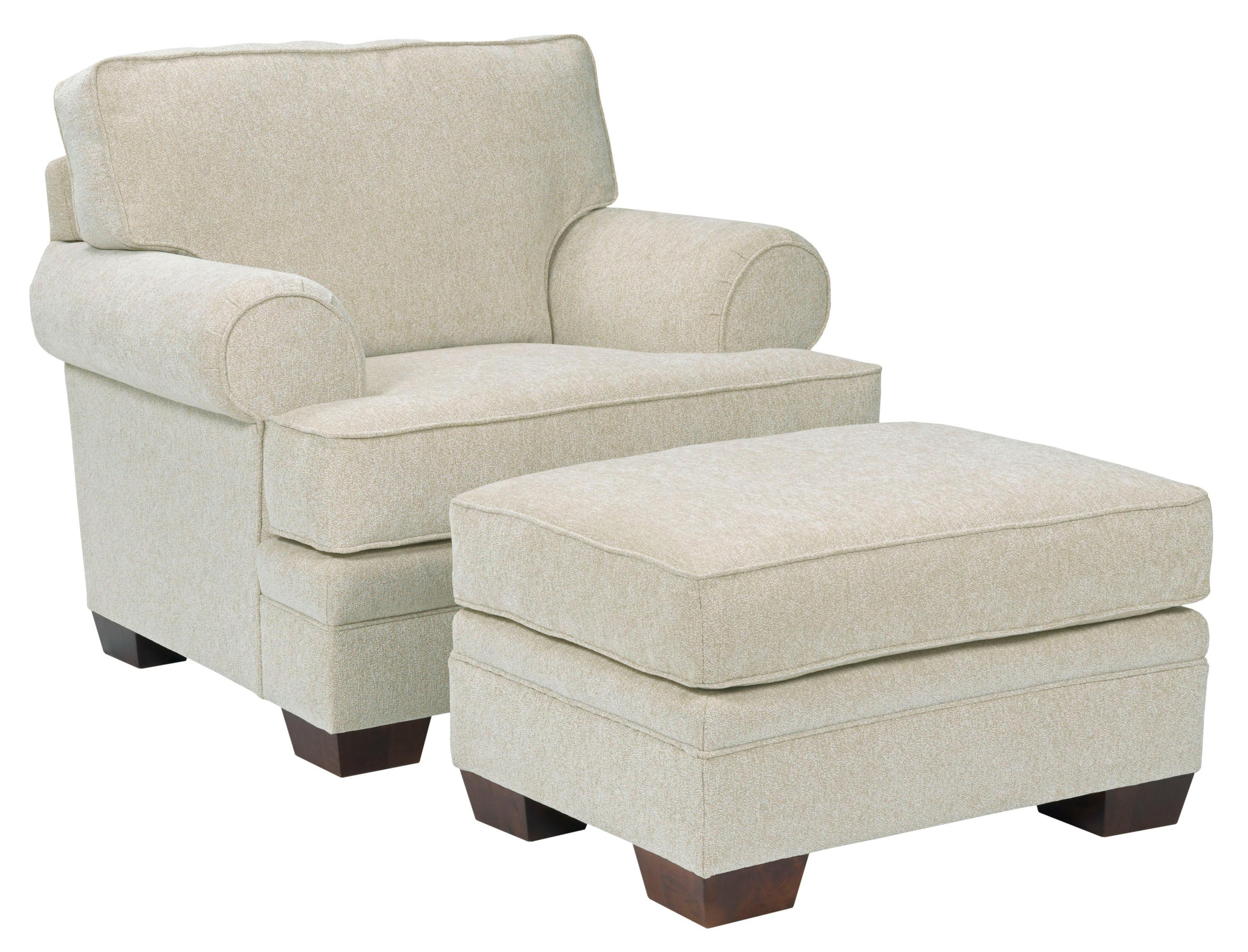 Broyhill Furniture Landon Transitional Chair and Ottoman Set - Item Number: 6608-0+5