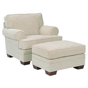 Broyhill Furniture Landon Transitional Chair and Ottoman Set