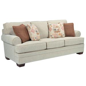 Broyhill Furniture Landon Transitional Stationary Sofa