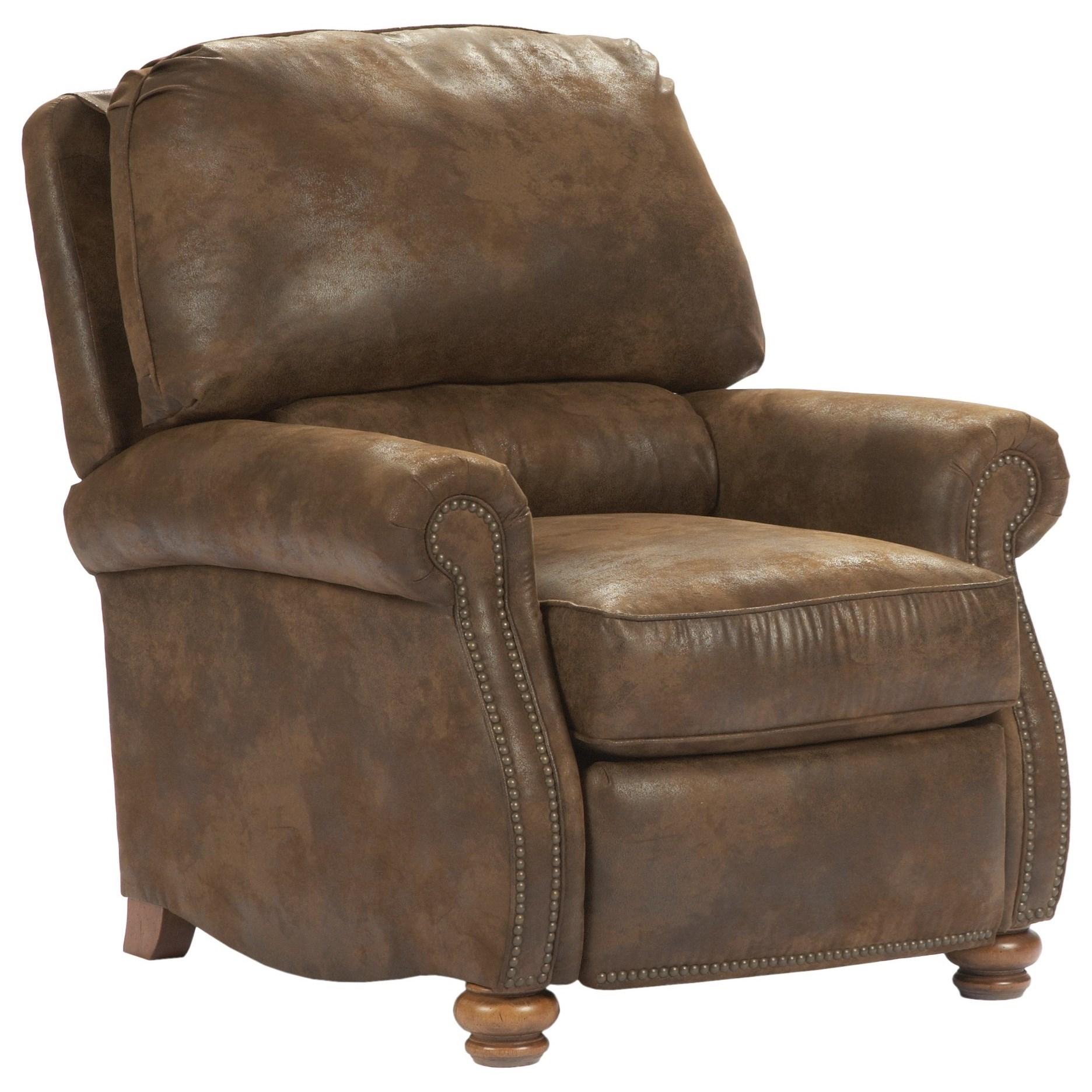 Broyhill Furniture Laramie Recliner with Turned Wood Feet ...
