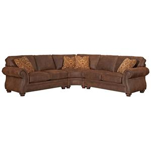 Broyhill Furniture Laramie 3 Piece Sectional Sofa