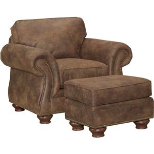 Broyhill Furniture Laramie Chair and Ottoman Set