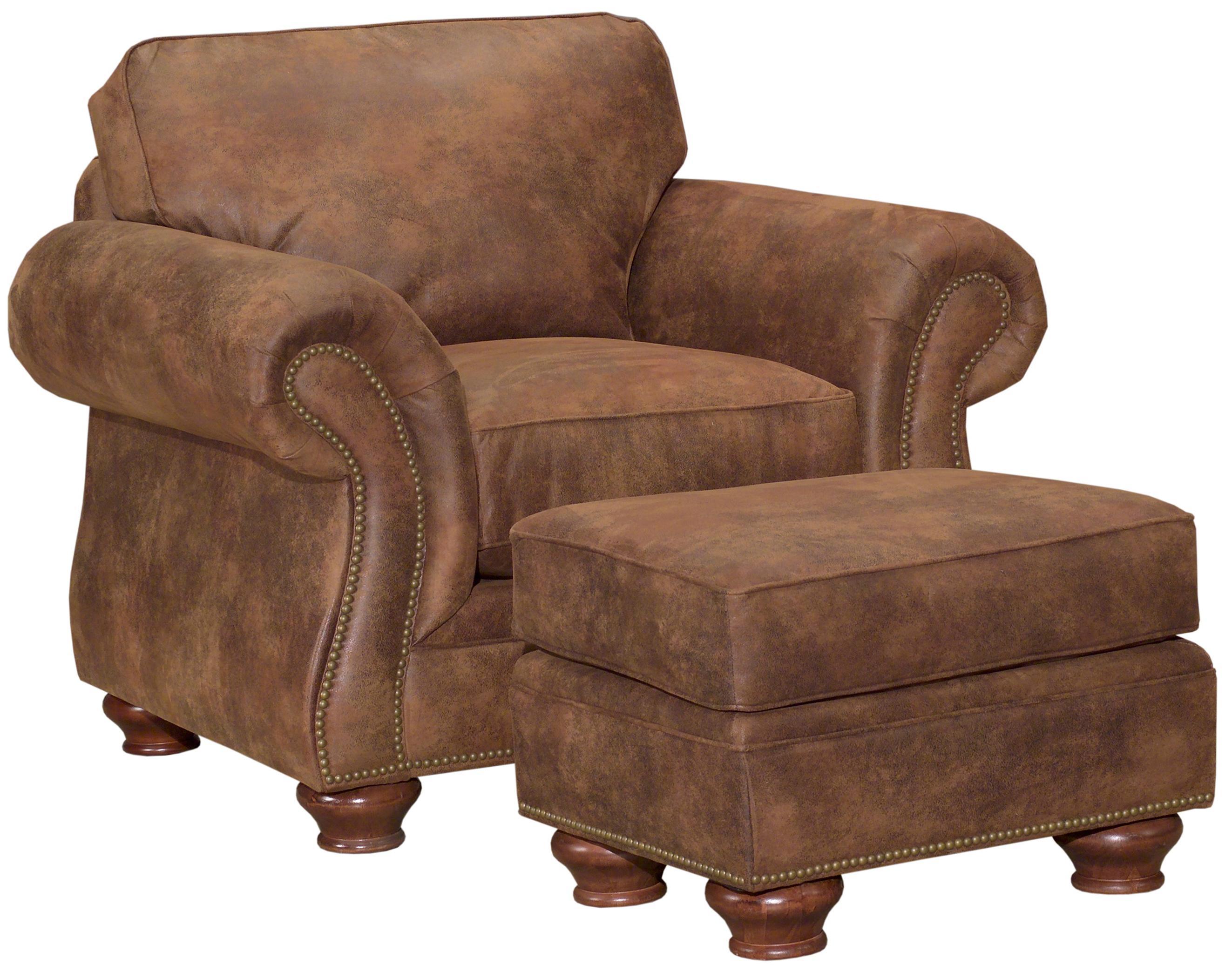 Living Room Chair And Ottoman Set Broyhill Furniture Laramie Chair And Ottoman Set W Nail Head Trim