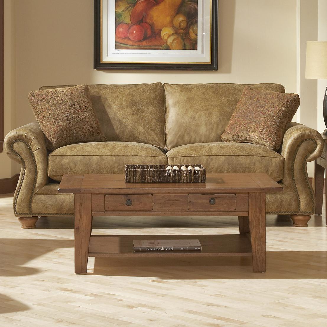 Broyhill Furniture Laramie Sofa W Nail Head Trim Lindy
