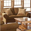 Broyhill Furniture Larissa Upholstered Stationary Loveseat with Rolled Arms - 6112-1