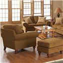 Broyhill Furniture Larissa Upholstered Stationary Loveseat with Rolled Arms - 6112-1 - Shown with Matching Chair