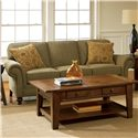 Broyhill Furniture Larissa Upholstered Stationary Sofa with Rolled Arms - Sofa Shown May Not Represent Exact Features Indicated