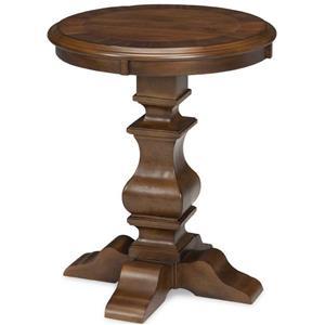 Broyhill Furniture Lyla Round Lamp Table