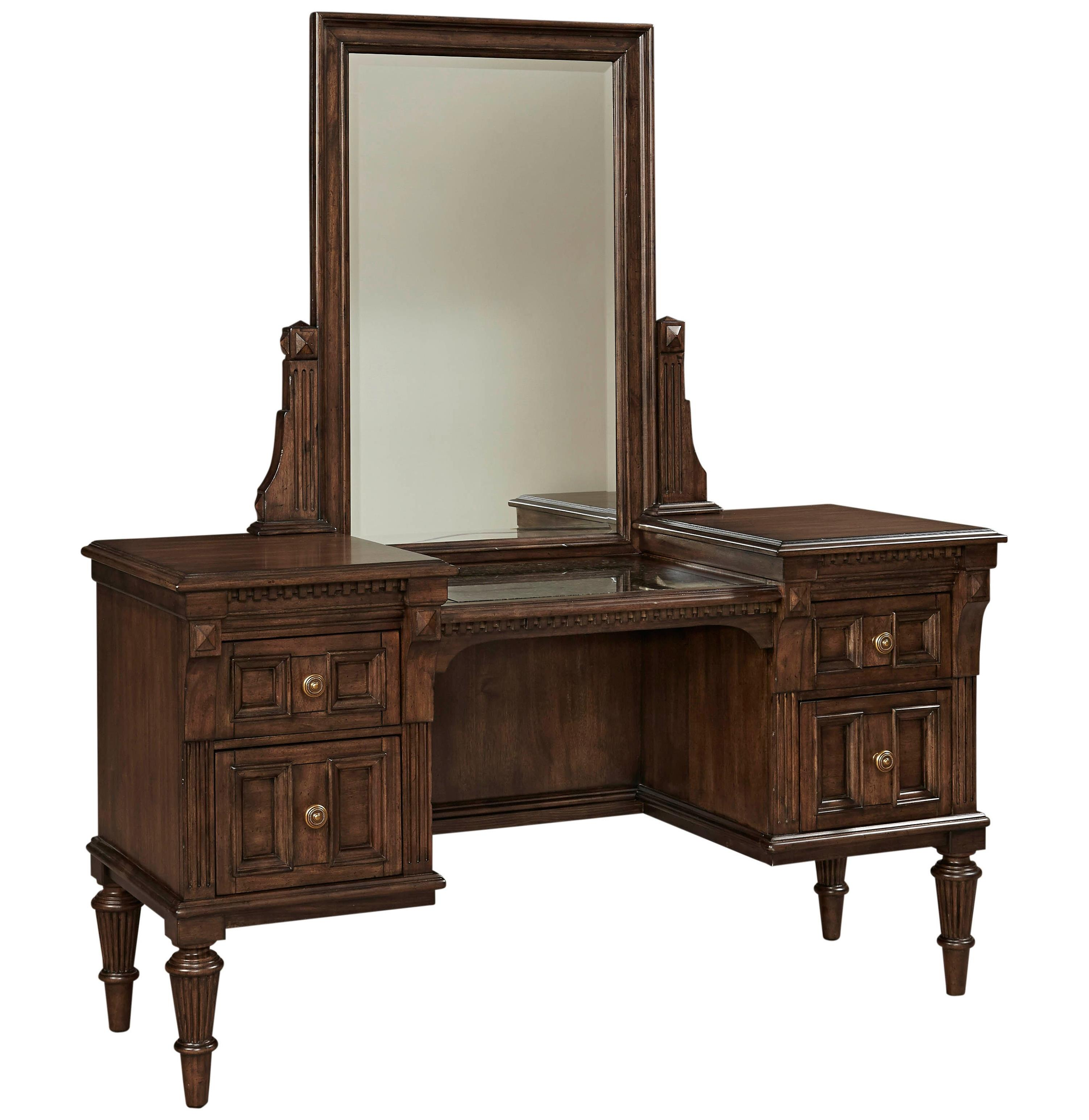 Broyhill Furniture Lyla Vanity and Mirror Set - Item Number: 4912-220+221