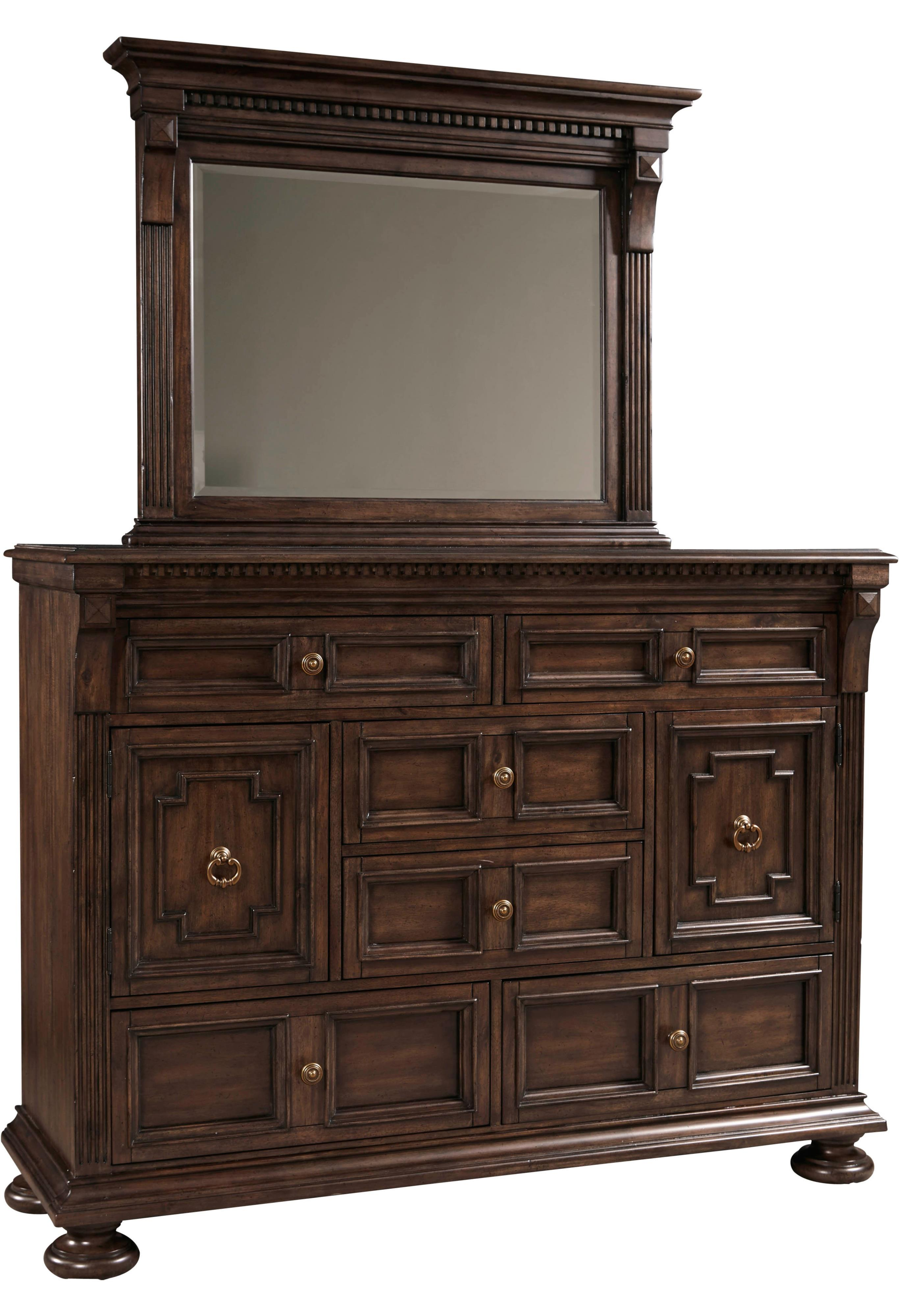 Broyhill Furniture Lyla Chesser and Mirror Set - Item Number: 4912-234+237