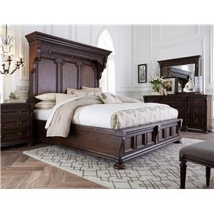Broyhill Furniture Lyla King Mansion Bedroom with Lighting