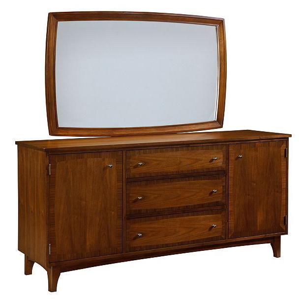 Broyhill Furniture Mardella Door Dresser + Landscape Dresser Mirror - Item Number: 4277-232+4277-237
