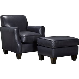 Broyhill Furniture Mazie Chair and Ottoman Set