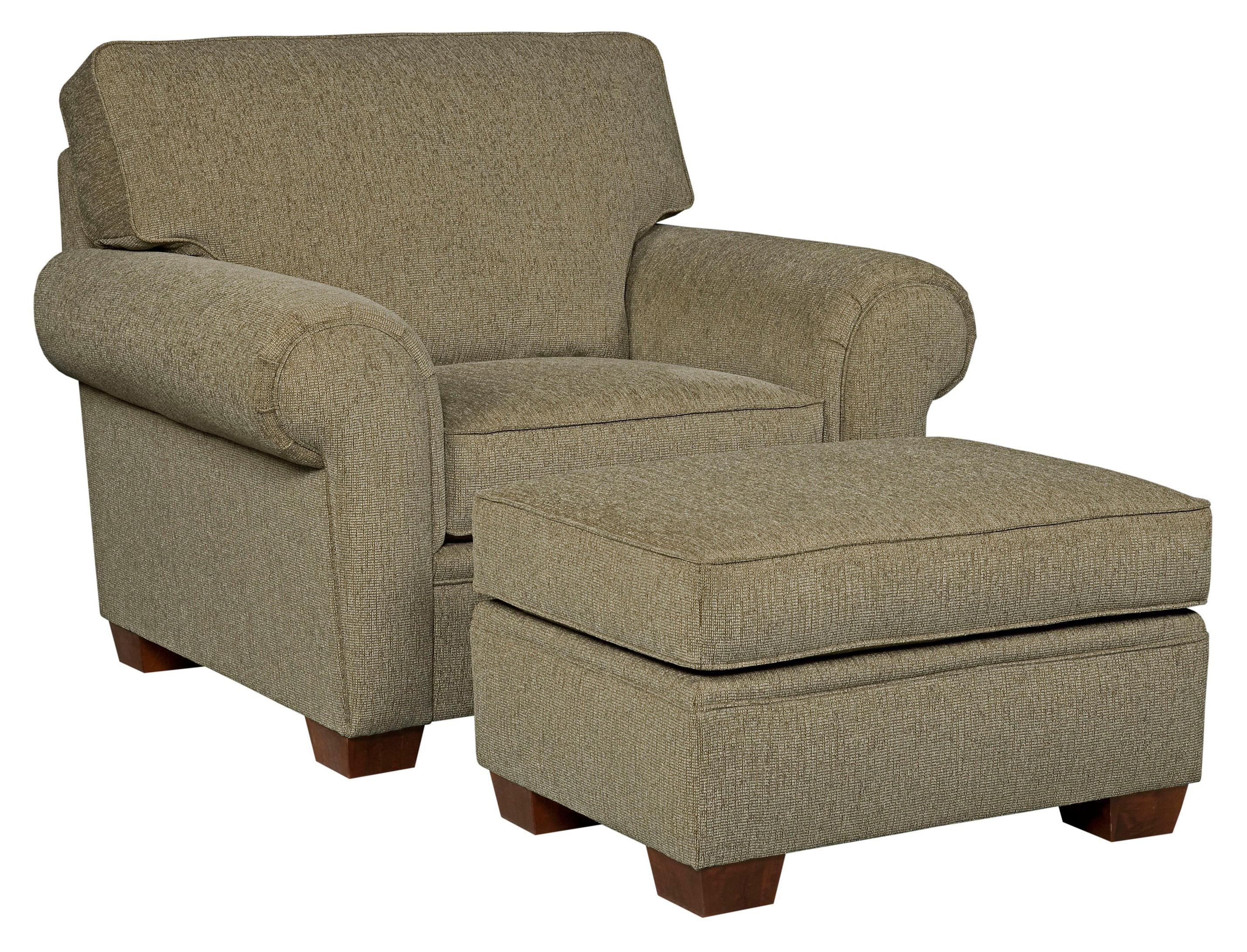 Broyhill Furniture Miller Casual Chair and Ottoman Set - Item Number: 5300-0+5