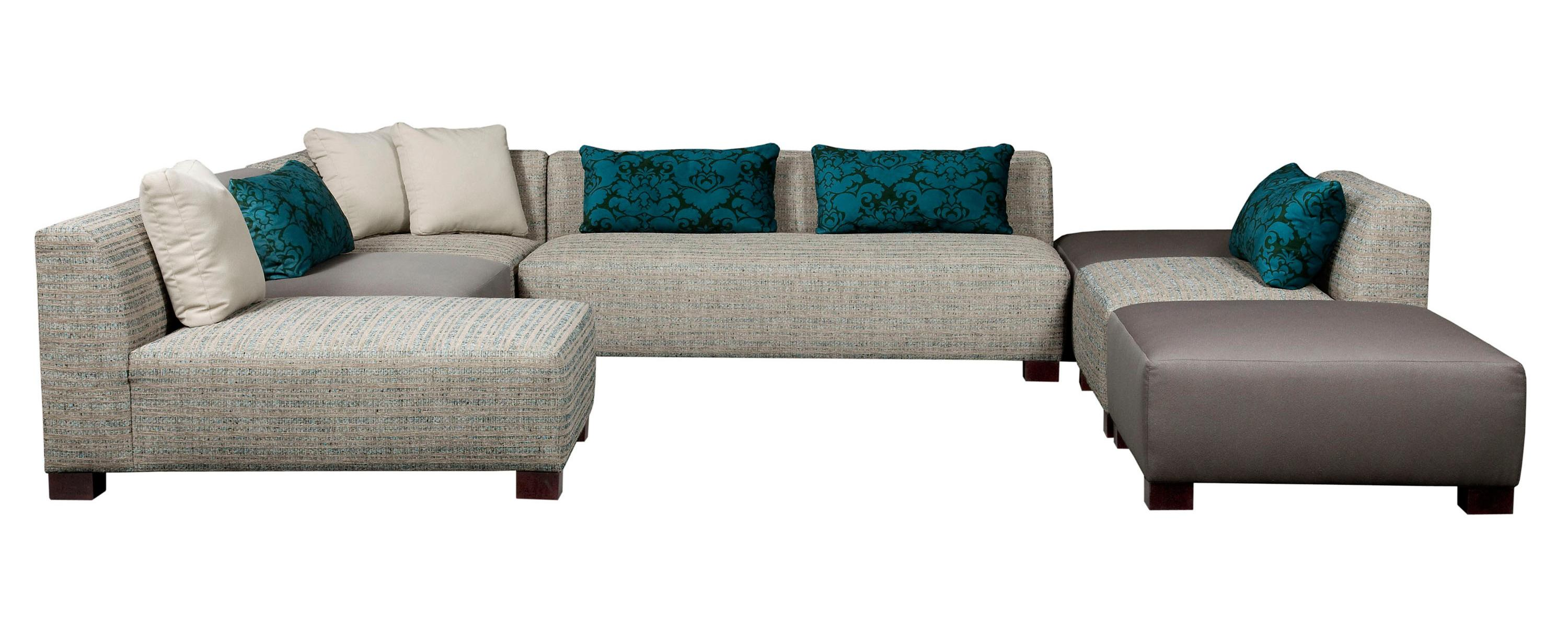 Broyhill Furniture Milo Contemporary Sectional Sofa with Low Seat