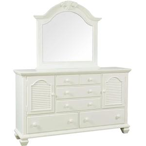 Broyhill Furniture Mirren Harbor Door Dresser with Mirror