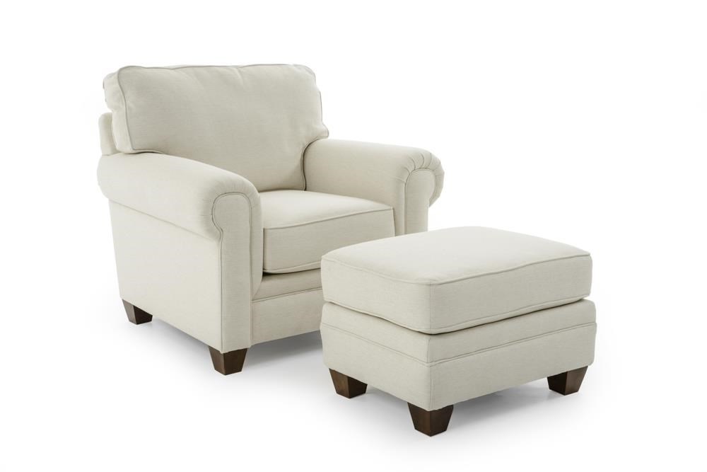 Broyhill Furniture Monica Chair and Ottoman - Item Number: 3678-0+3678-5-4667-91