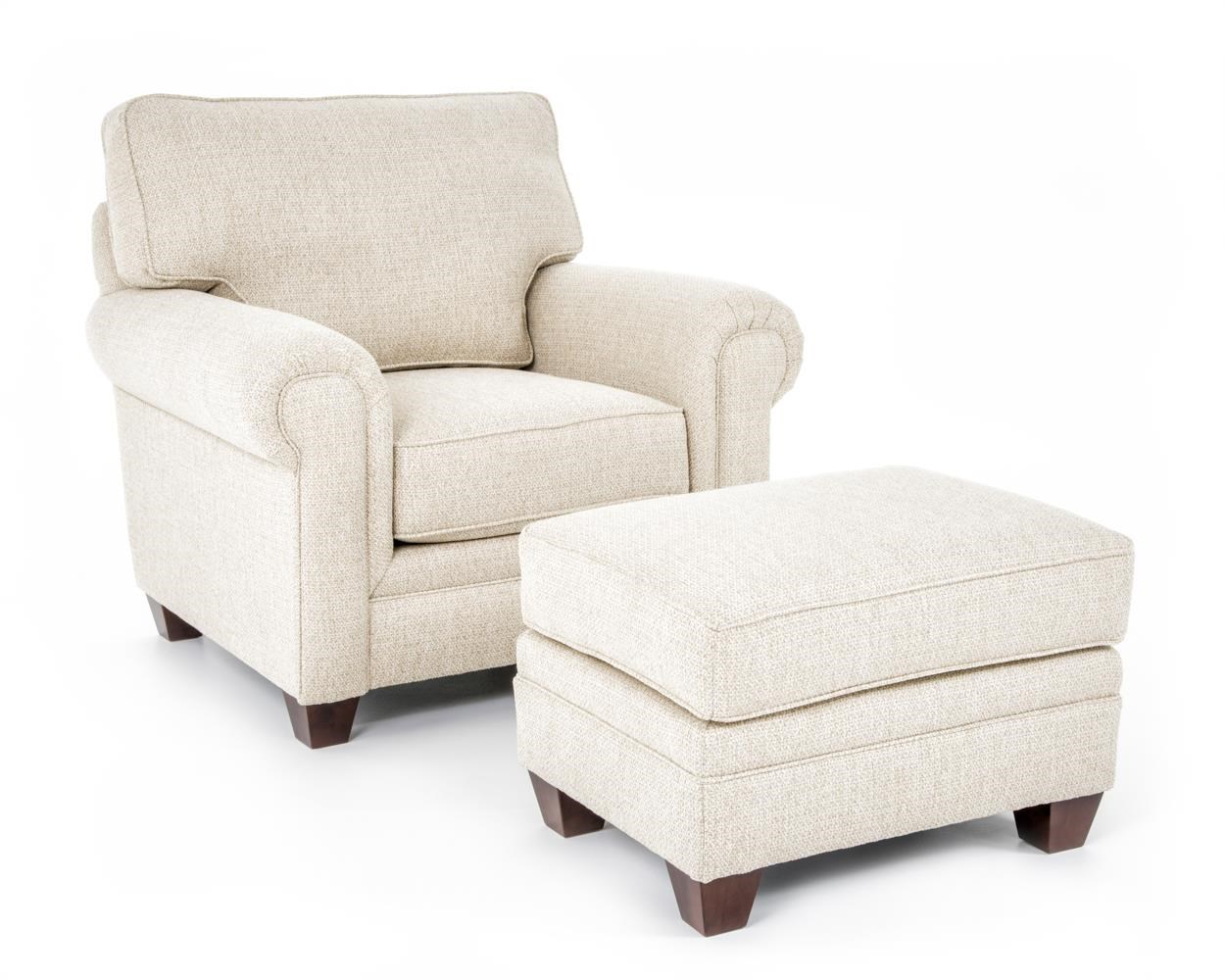Broyhill Furniture Monica Chair and Ottoman - Item Number: 3678-0+5