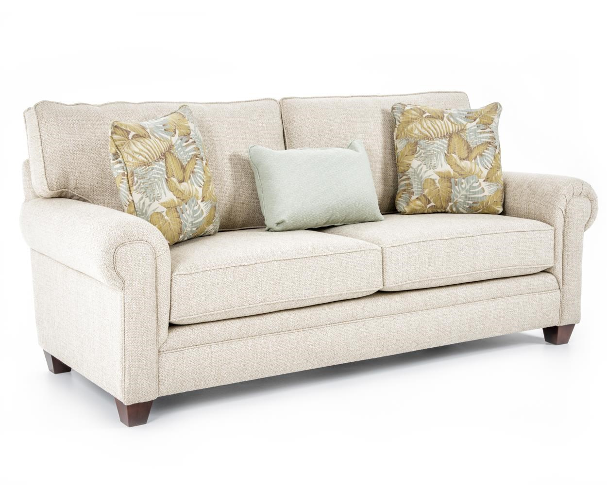 Broyhill Furniture Monica Transitional Sofa with Rolled Arms - Baer's Furniture - Sofa