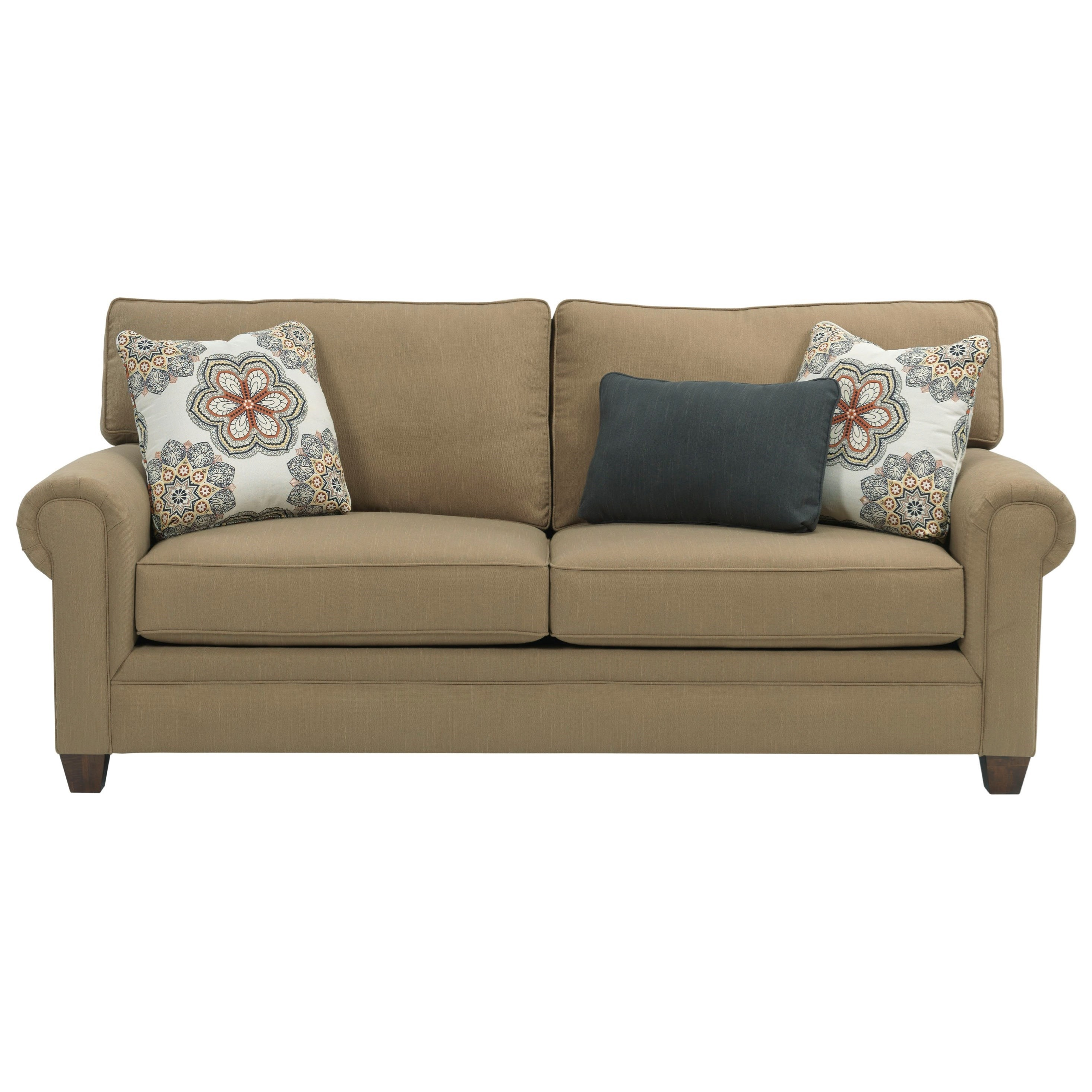 Broyhill Furniture Monica 3678 7a Transitional Queen Air Dream Sleeper Sofa With Rolled Arms