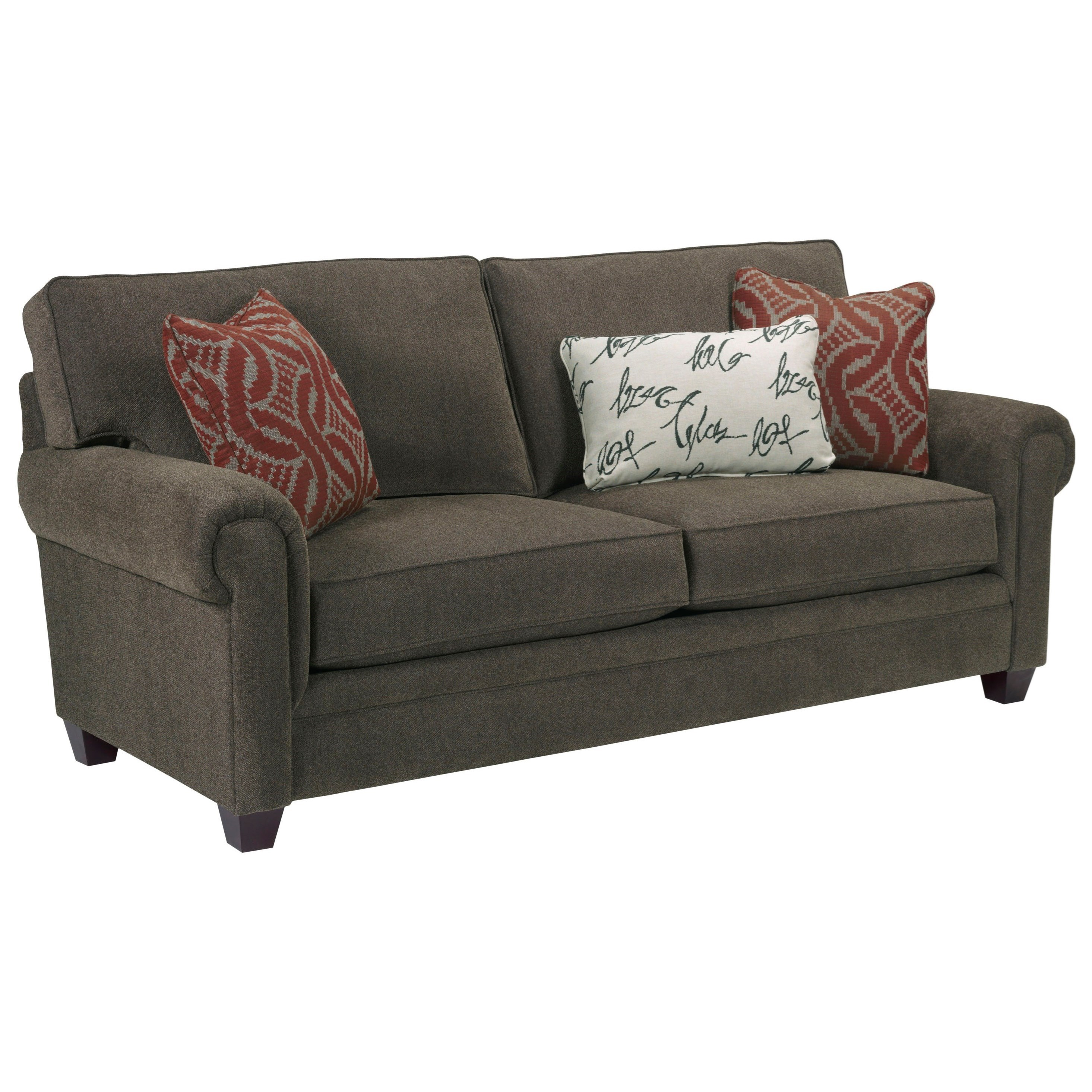 Broyhill Furniture Monica Transitional Queen Air Dream Sleeper Sofa with Rolled Arms - Knight ...
