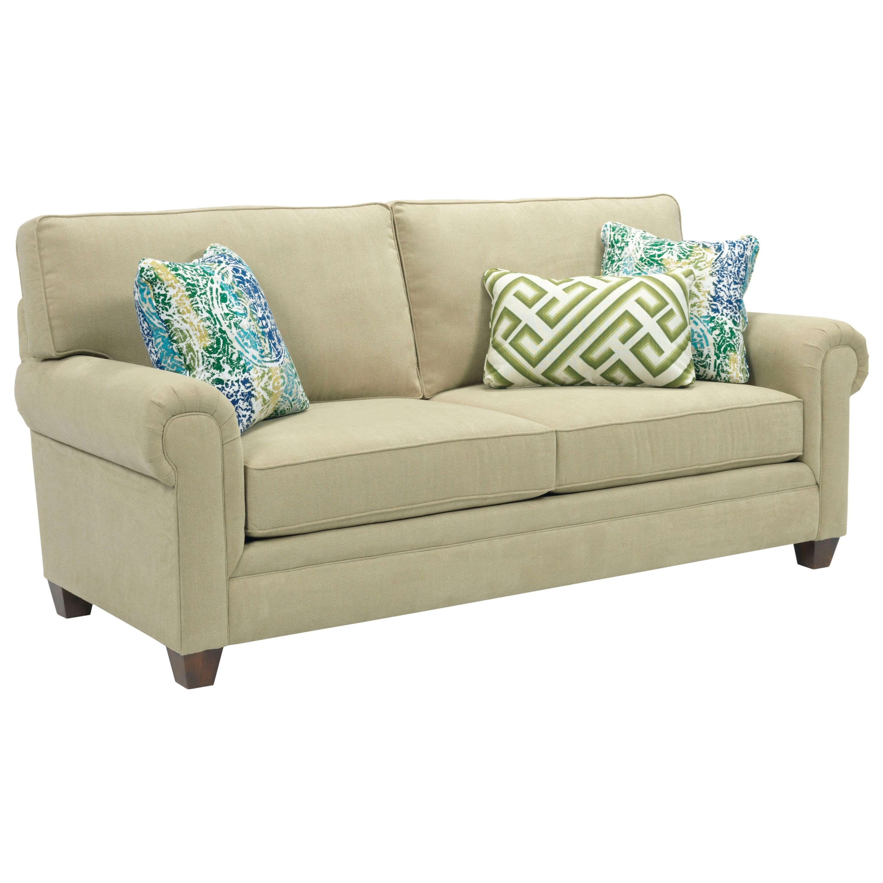 Broyhill Furniture Monica Transitional Queen Air Dream Sleeper Sofa With Rolled Arms Knight