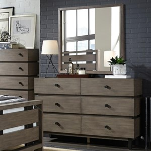 Broyhill Furniture Moreland Ave Dresser and Mirror Combo