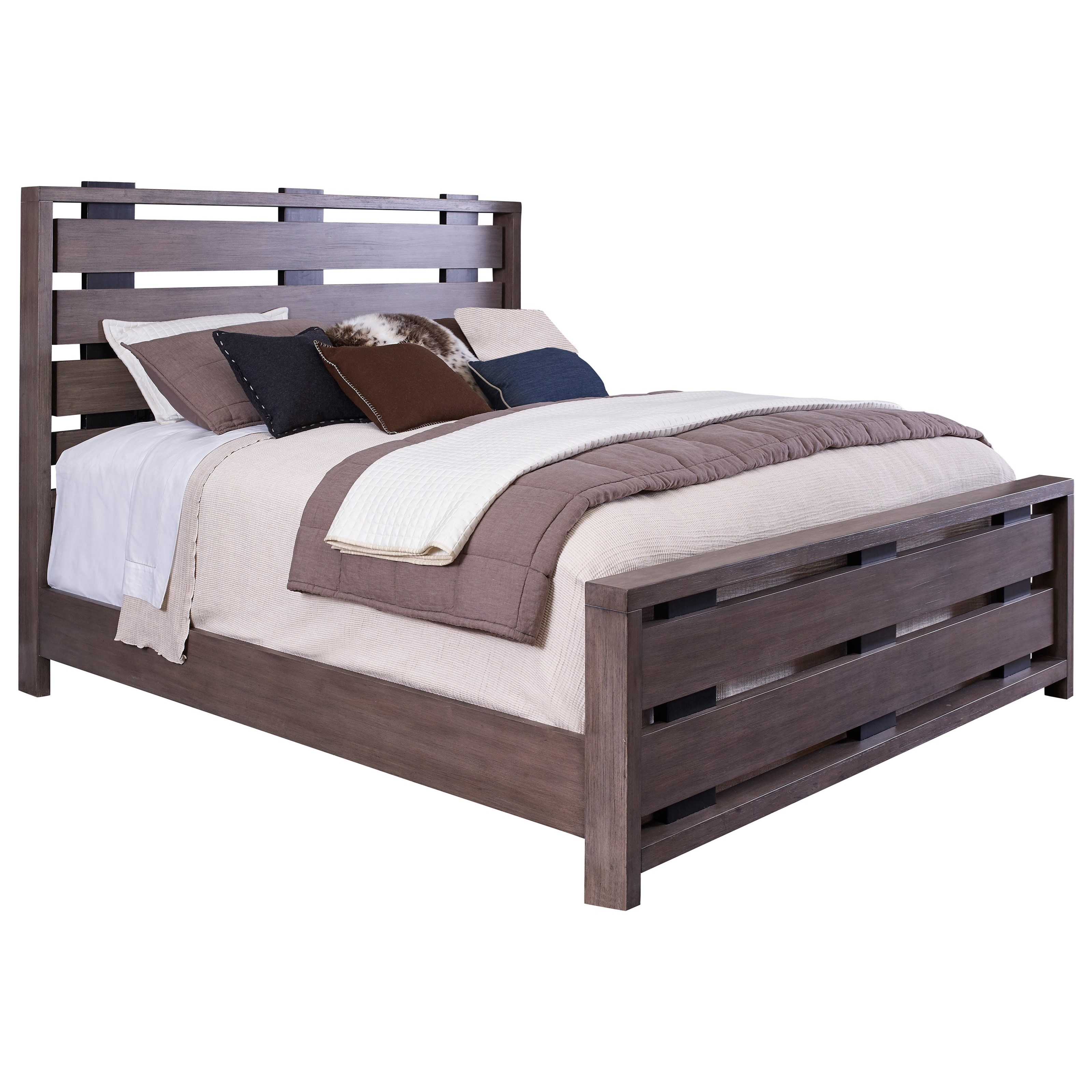 Broyhill Furniture Moreland Ave Queen Bed - Item Number: 5815-256+257+450