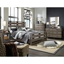 Broyhill Furniture Moreland Ave Queen Bed with Slatted Headboard and Footboard