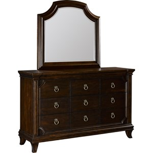 Broyhill Furniture New Charleston Dresser and Mirror Combo