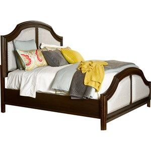 Broyhill Furniture New Charleston Queen Upholstered Panel Bed