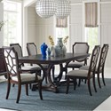 Broyhill Furniture New Charleston 7 Piece Table and Chair Set - Item Number: 4549-531+551+2x584+4x585