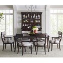 Broyhill Furniture New Charleston 7 Piece Table and Chair Set - Item Number: 4549-542+2x580+4x581