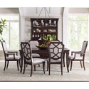 Broyhill Furniture New Charleston 7 Piece Table and Chair Set - Item Number: 4549-542+2x584+4x585